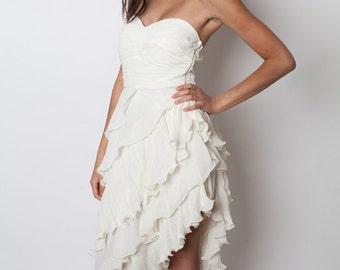 Chiffon Layered Uneven Cut Dress, gatsby dress, Dress, Bridesmaids Dress, Birthday Dress, Prom Dress, Party Dress, gatsby prom dress