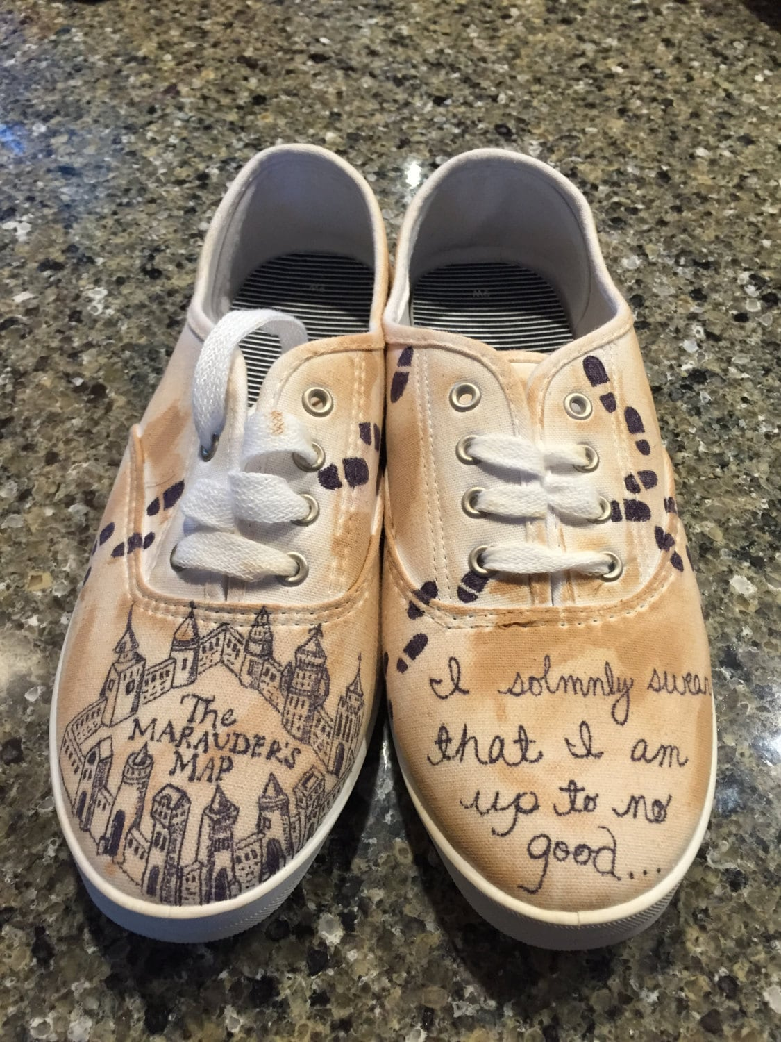 harry potter shoes by citysneakers on etsy