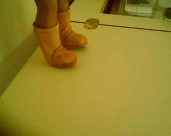 """Leather boots for 18"""" doll"""