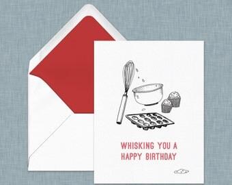 Baker's Birthday Card // Cupcake Card // Puns