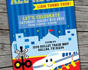 Train Invitation/ Japanese Train Invite/ Bullet Train Invite/ Train Printable Birthday Invitation / Japanese Invite / Train Birthday Invite