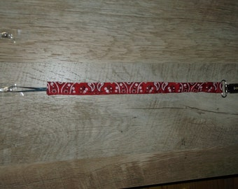 Red Bandana Pacifier Clip