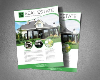 Real Estate Flyer Template Option to add Photo, change text and colors