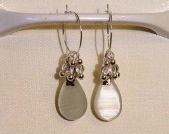 Beautiful Lt Gray Earrings