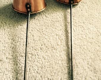 Copper ladles, decorative reproductions