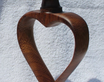 Turned wooden candlestick