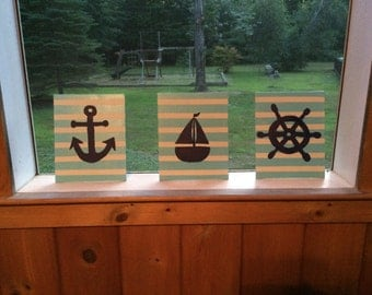 Set of 3 Nautical Paintings