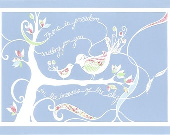 There is Freedom Waiting For You - Papercut Print, A3, Nursery Artwork