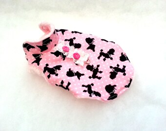 Small dog clothes Pink/Black Diva jumper, Chihuahua coat, puppy outfit Size - XXS