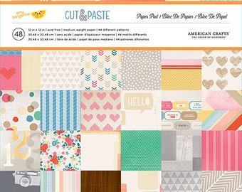 American Crafts Amy Tangerine Cut & Paste 12x12 Paper Pad