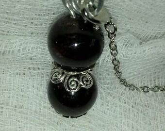 Crimson Garnet Pendulum,Pendant,Scrying,Dowsing