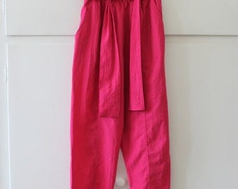Vintage High Waisted Crepe Peg Trousers | Size 8 10