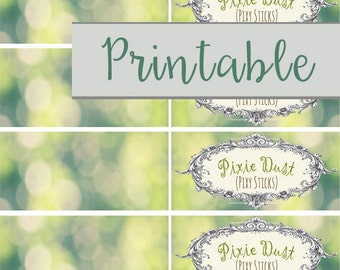 Printable Pixie Dust Labels for Pixy Stix