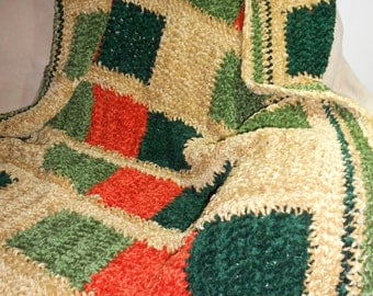 Crochet Chenille Throw