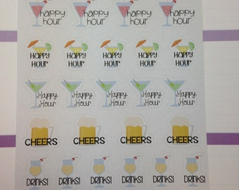 Happy Hour Planner Stickers