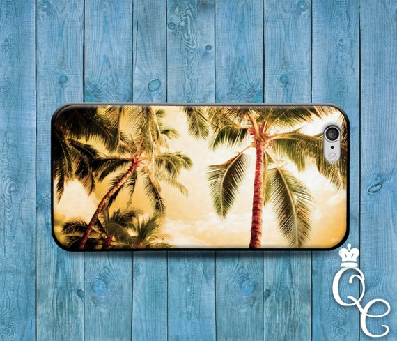 iPhone 4 4s 5 5s 5c SE 6 6s 7 plus iPod Touch 4th 5th 6th Gen Custom Cool Beach Ocean Palm Trees California Cover Cute Tropical Hawaii Case