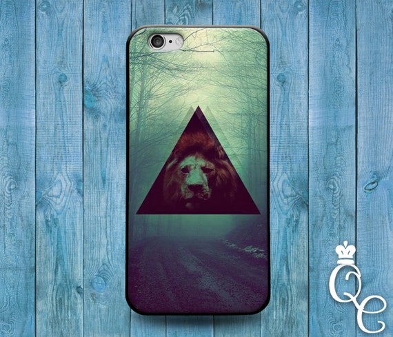 iPhone 4 4s 5 5s 5c SE 6 6s 7 plus iPod Touch 4th 5th 6th Generation Cool Lion Triangle Cover Cute Amazing Animal Case Cat Green Nature