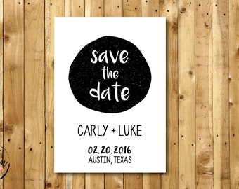PRINTABLE Save the Date // 5x7 // Wedding Save the Date // Modern Save the Date
