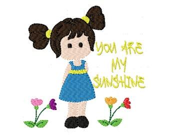 Sunshine Girl- Machine Embroidery Design