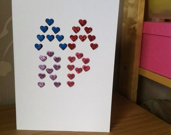 Personalised initials adoption celebration card