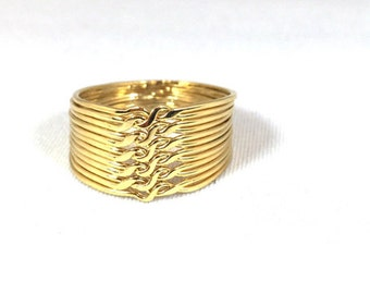 14k Gold plated Puzzle Ring on Sterling 12 pcs