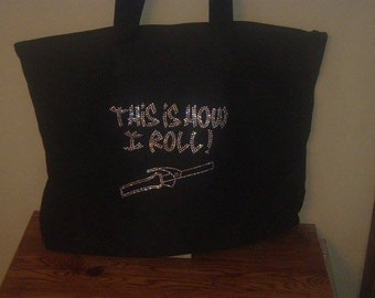 Rhinestone Tote for beuticians or in beauty school