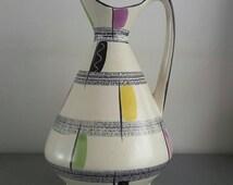 Big Colorful West Germany vase 60's