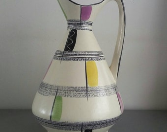 Colorful West Germany vase 60's