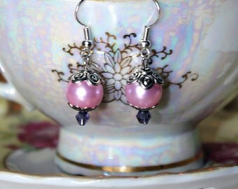 Light Pink and Purple Earrings