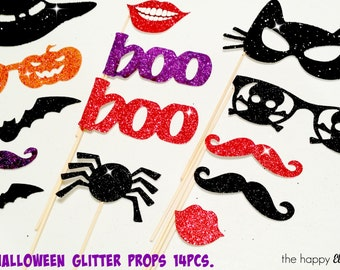 Glitter Halloween Photo Booth Props