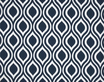 Newborn Baby/Infant Changing Pad Cover White/Navy Blue Droplets