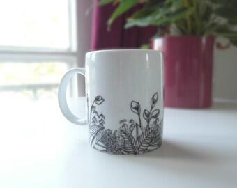 Mug pattern 'jungle'