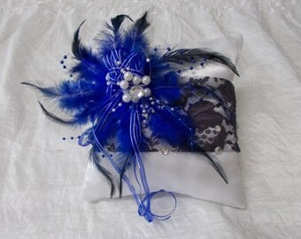 """Blue Lace"" ring pillow"