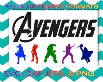 Avenger Cutting file sag, dxf, eps, png