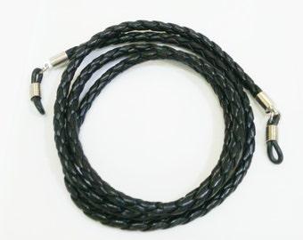 Black plait glasses strap