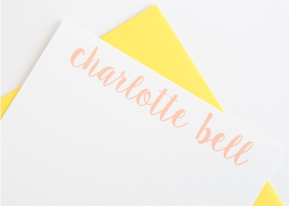 Personalized Stationery Set Of 10 Women S Stationery