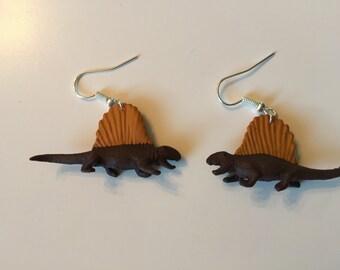 Dimetrodon Dinosaur Earrings
