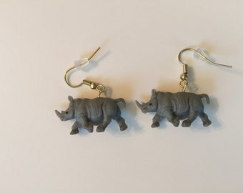 Rhinoceros Earrings
