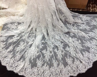 Embroidery Corded French Lace Fabric,Chantilly Lace Fabric,Wedding Lace Fabric 3 meters per pc