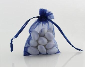 4 x 6 Navy Blue Organza Bag // 4 x 6 in // Organza Bags // BBBsupplies {CR-O-N002}