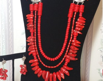 Amazing Red Coral Necklace