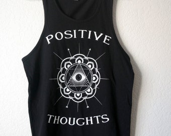 Black Positive Thoughts Tank Top