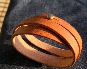 Triple Wrap Premium Leather Bracelet Horween USA