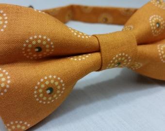 Men's Bowtie, Bow Tie, Orange