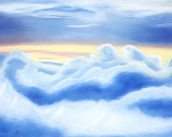 Fine Art Print Skyscape Scenery Digital Print Blue Clouds Skies Sunset Sky Heavenly Skies Blue Skies