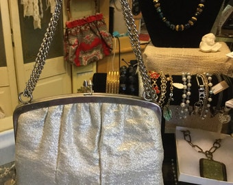 Silver metallic purse
