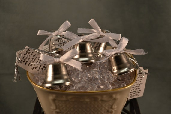 wedding bells 96 pieces kissing bells wedding favor bells silver
