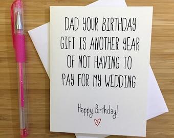 Happy Birthday Dad, Card for Dad, Funny Dad Card, Gift for Dad, Cute Card for Dad, Happy Birthday, Greeting Card, Happy Birthday Card