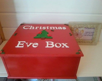 wooden mdf large christmas eve box