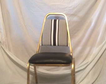 Accent chair gold metal frame upholstered